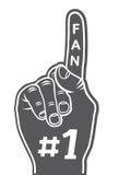 Foam finger - fan finger. Vector illustration of foam finger - fan finger Stock Photography