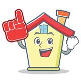 Foam finger house character cartoon style. Vector illustration Royalty Free Stock Photo