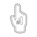 Foam finger icon image. Vector illustration design Stock Photography