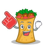 Foam finger kebab wrap character cartoon. Vector art stock illustration