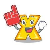 Foam finger multiply sign icon isolated on mascot. Vector illustration royalty free illustration