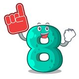 Foam finger number eight volume logo the mascot. Vector illustration vector illustration
