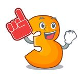 Foam finger number three isolated on the mascot stock illustration