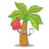 Foam finger palm tree character cartoon. Vector illustration Royalty Free Stock Photos