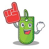 Foam finger price tag mascot cartoon. Vector illustration Royalty Free Stock Photography