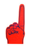 Foam Finger in Red Royalty Free Stock Photography