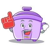Foam finger rice cooker character cartoon. Vector Royalty Free Stock Photos