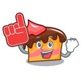 Foam finger sponge cake mascot cartoon. Vector illustration Royalty Free Stock Photos