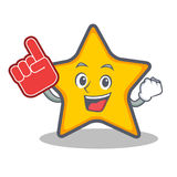Foam finger star character cartoon style. Vector illustration Royalty Free Stock Photography