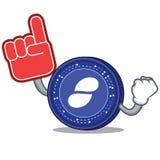 Foam finger Status coin mascot cartoon. Vector illustration Royalty Free Stock Image
