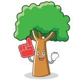 Foam finger tree character cartoon style. Vector illustration Stock Image