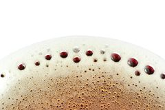 Foam on Fizzy Soft Drink Royalty Free Stock Photography
