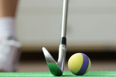 Foam Golf Ball Home Practicing Royalty Free Stock Photo