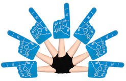 Foam Hands Stock Photography
