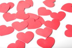Foam Hearts Royalty Free Stock Photography