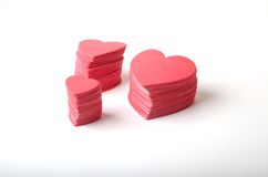 Foam Hearts Royalty Free Stock Photos