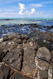 foam  indian ocean some stone in the island Stock Photos