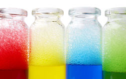 Foam in jars Royalty Free Stock Photography