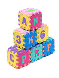 Foam Letter Cubes royalty free stock photos