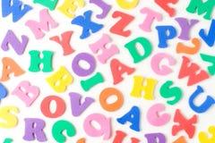 Foam letters Stock Photos