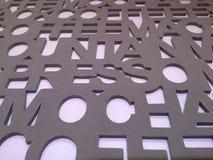 Foam letters , Hadyai , Songkhla , Thailand. Foam letters in Hadyai , Songkhla , Thailand Royalty Free Stock Photography