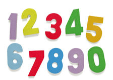 Foam numbers. Child's play Royalty Free Stock Photos