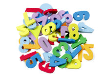 Foam numbers. Child's play Stock Images