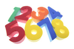 Foam Numbers Stock Photography