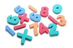 Foam Numbers Stock Image