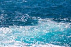 Foam ocean water. Foam blue ocean water and waves Royalty Free Stock Photography