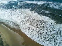 Foam of the Pacific Ocean Stock Image