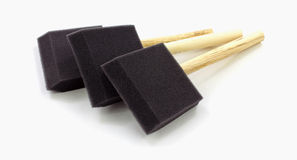 Foam Paint Brushes Overhead View Royalty Free Stock Photos