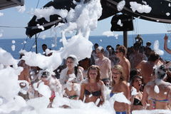 Foam Party Stock Images