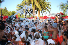 Foam Party Royalty Free Stock Photo