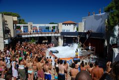 Foam party in a club resort. Kemer, Turkey Stock Image