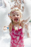 Foam party for kids Stock Images