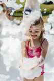 Foam party for kids Stock Image