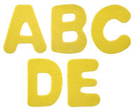 Foam plastic alphabet Stock Images