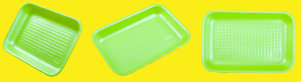 Foam plastic box Royalty Free Stock Images