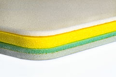 Foam, Polyethylene Multi Color Material Shockproof Closed Up Stock Photo