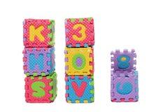 Foam puzzle letter cubes Stock Photography