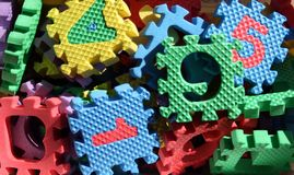 Foam puzzle pieces Royalty Free Stock Image