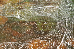 Foam on the river surface. Stock Photo
