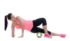 Foam Roller Exercises Stock Photo