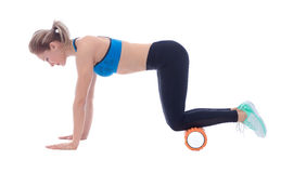 Foam Roller Exercises stock photography