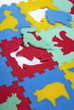 Foam rubber didactic toys Stock Photo