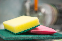 Foam rubber sponge for washing dishes Stock Photography