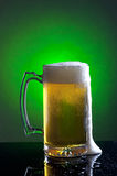 Foamy mug of beer. Stock Images