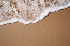 Foam on sand Royalty Free Stock Photos