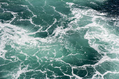 Foam in seawater Stock Photos